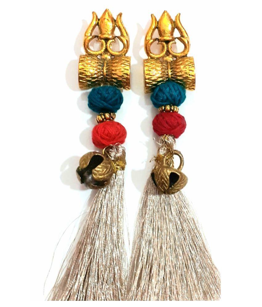 Beads N Threads - Stylish Dumro Earrings /Boho  Danglers