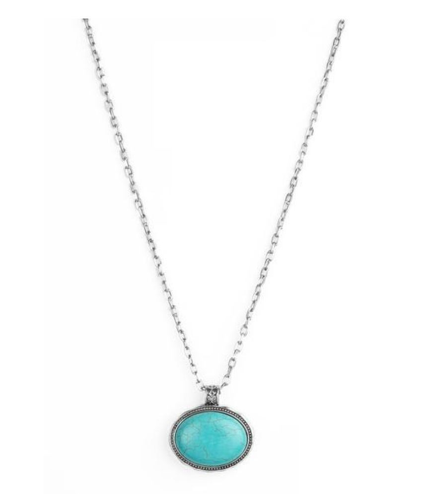 Natural Lab Certified 12 carat 120% Original  Turquoise pendant without chain for unisex by Kundli Gems\n