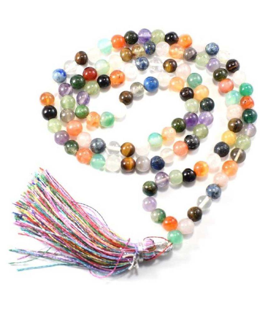 Precious Stone Beads Mala Unheated & Untreated Stone Navgrah Beads Mala BY KUNDLI GEMS