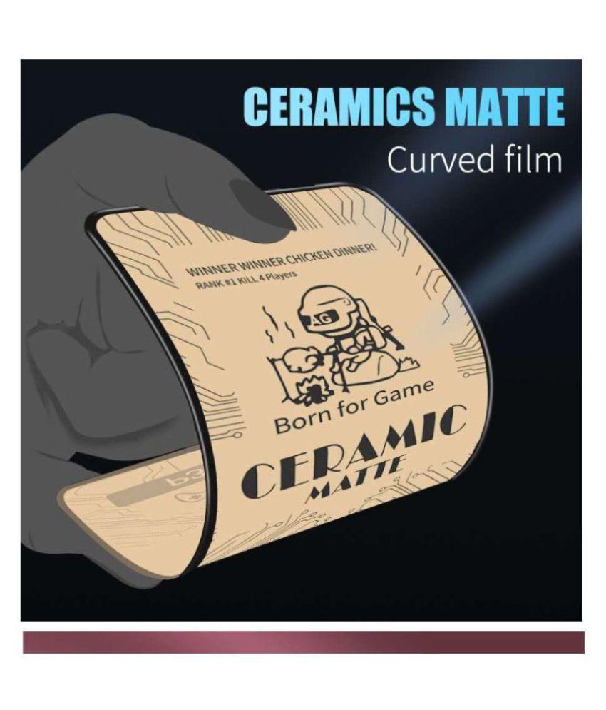 Realme 5 Pro Tempered Glass by Realme C11/5/5s/5i/6i/C3,Oppo A5-2020/A9-2020/A31/A8/Y5s/Y19 Matte Ceramic Tempe