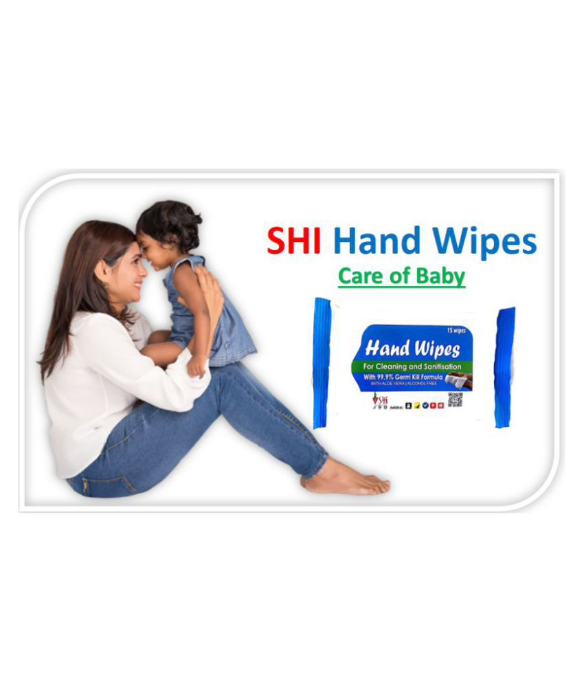 SHi Hand Wipes For Cleaning and without water Pack of 5