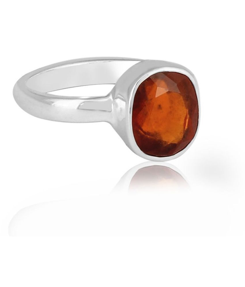 Hessonite(Gomed)Ring 3 Ratti 100% Original Silver Hessonite(Gomed)Stone  by Ratan Bazaar