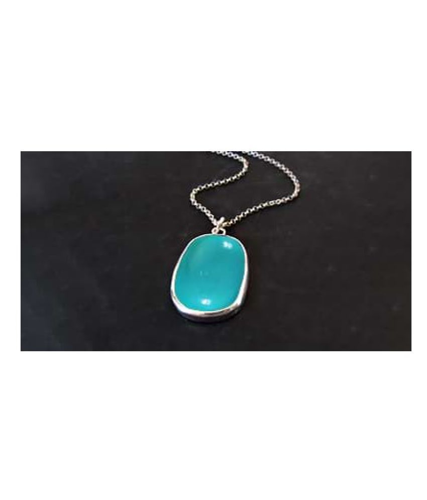 Natural & Lab Certified Turquoise stone silver Pendant for Women & Men