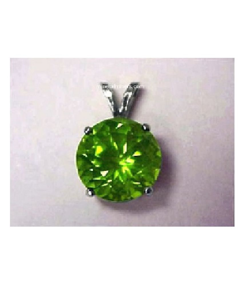 8.25 Ratti Silver Original Peridot Pendant without chain Lab Certified Stone by Ratan Bazaar\n