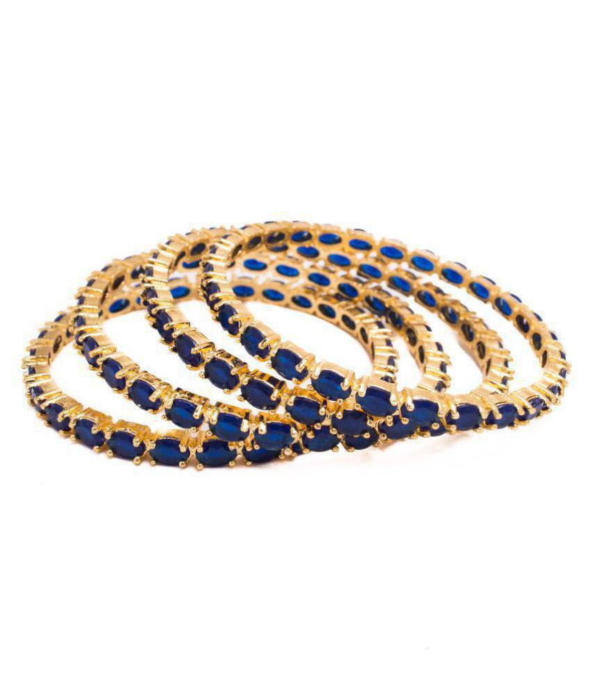 Manikya Traditional Bengali Bangles Copper with 24ct Gold Plated (No. of Pices 4, Size - 2.8)