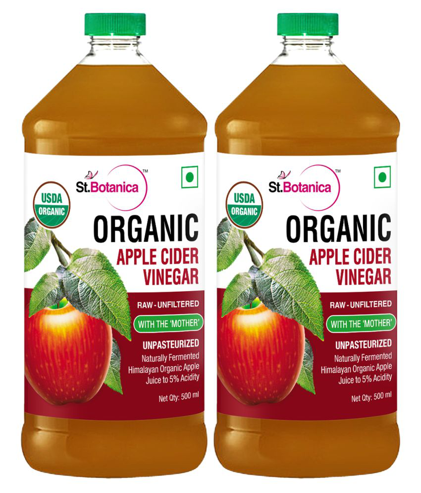 StBotanica Usda Organic Apple Cider Vinegar 500 g Pack of 2