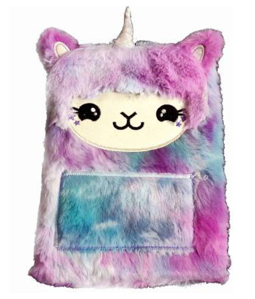 FATFISH Exclusive Hello Kitty Face Style Soft Fur Diary A5 Diary Single 100 Pages  (Multicolor)