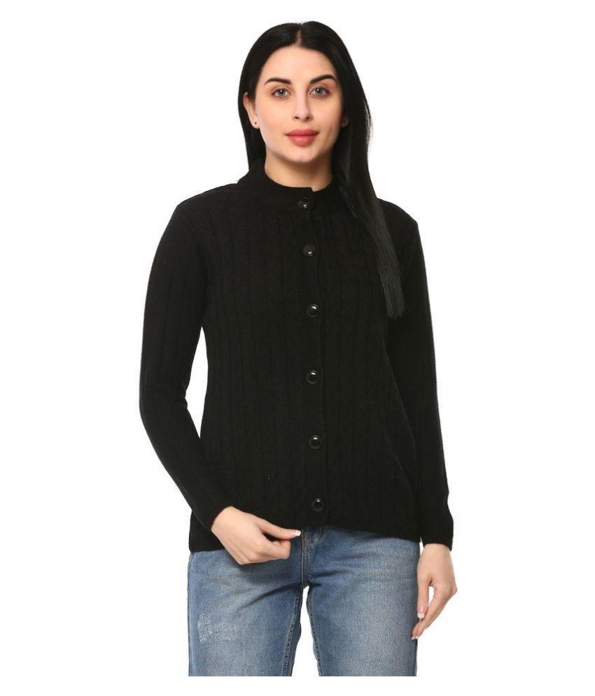 Glamaze Acrylic Black Buttoned Cardigans