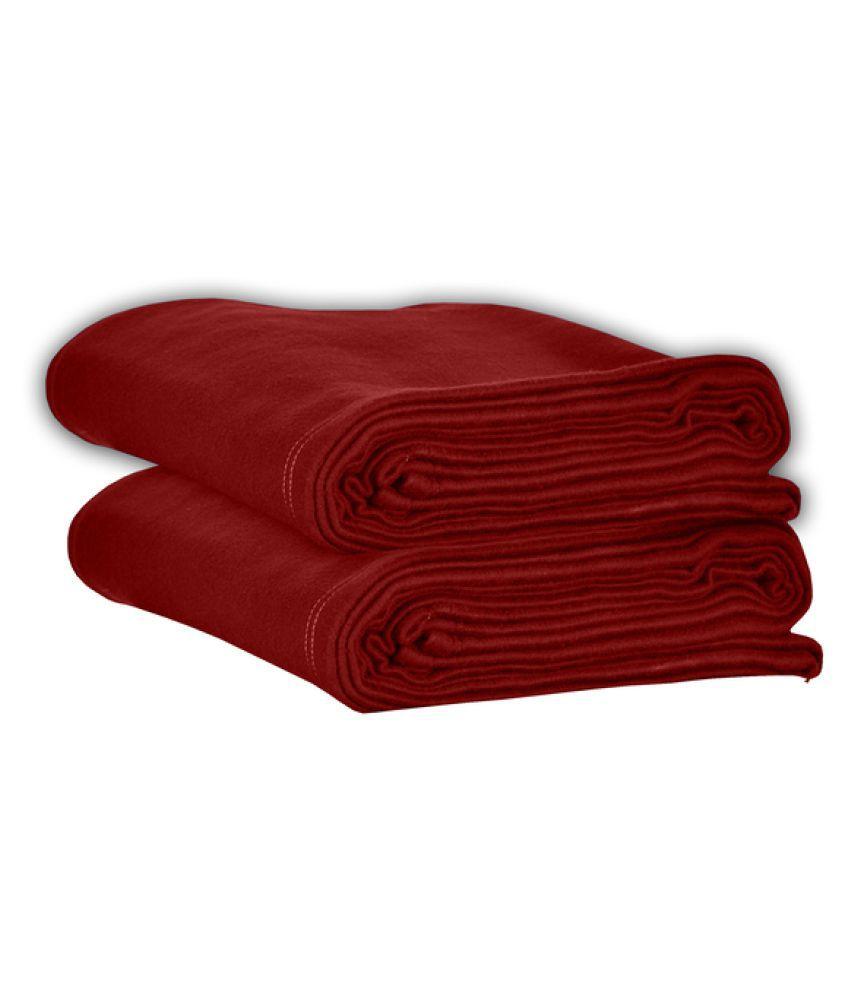 Varde Single Polar Fleece Plain Blanket