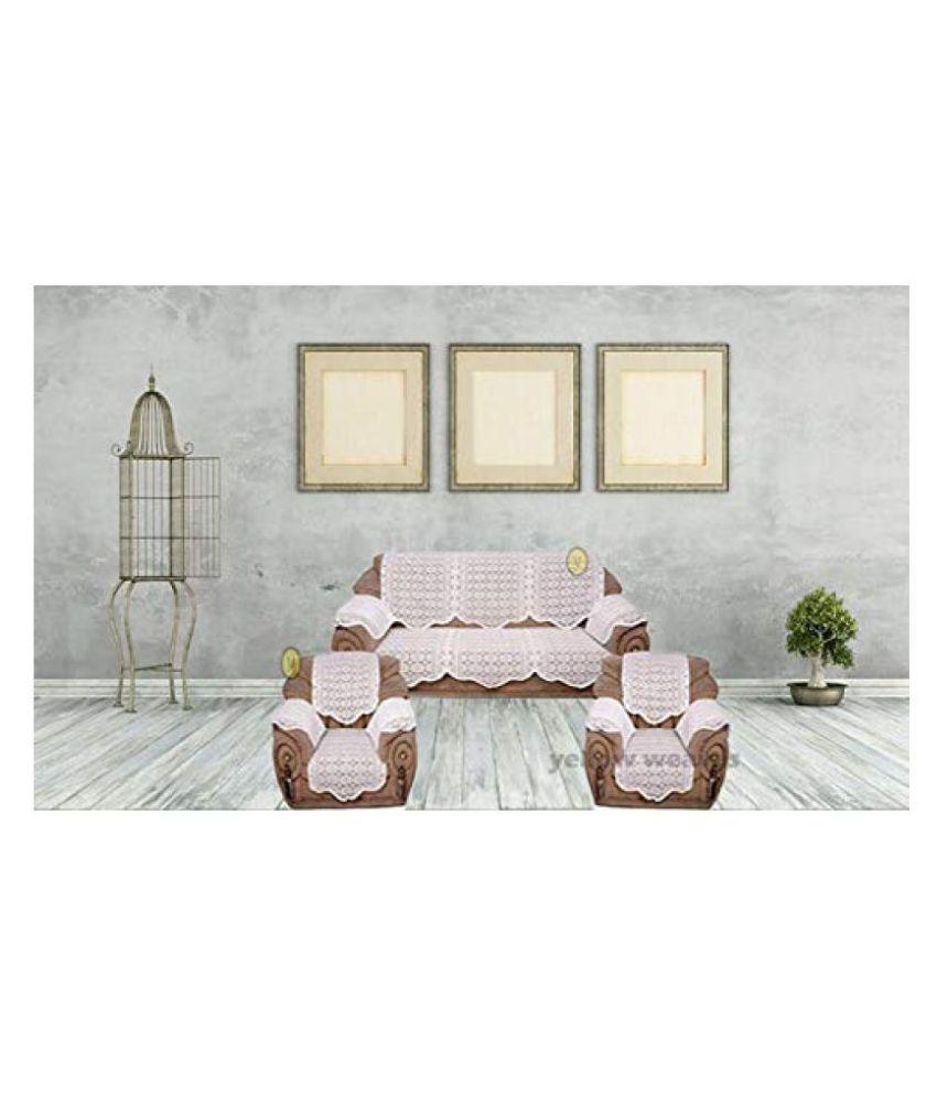 vivek homesaaz 5 Seater Polyester Set of 16 Sofa Cover Set