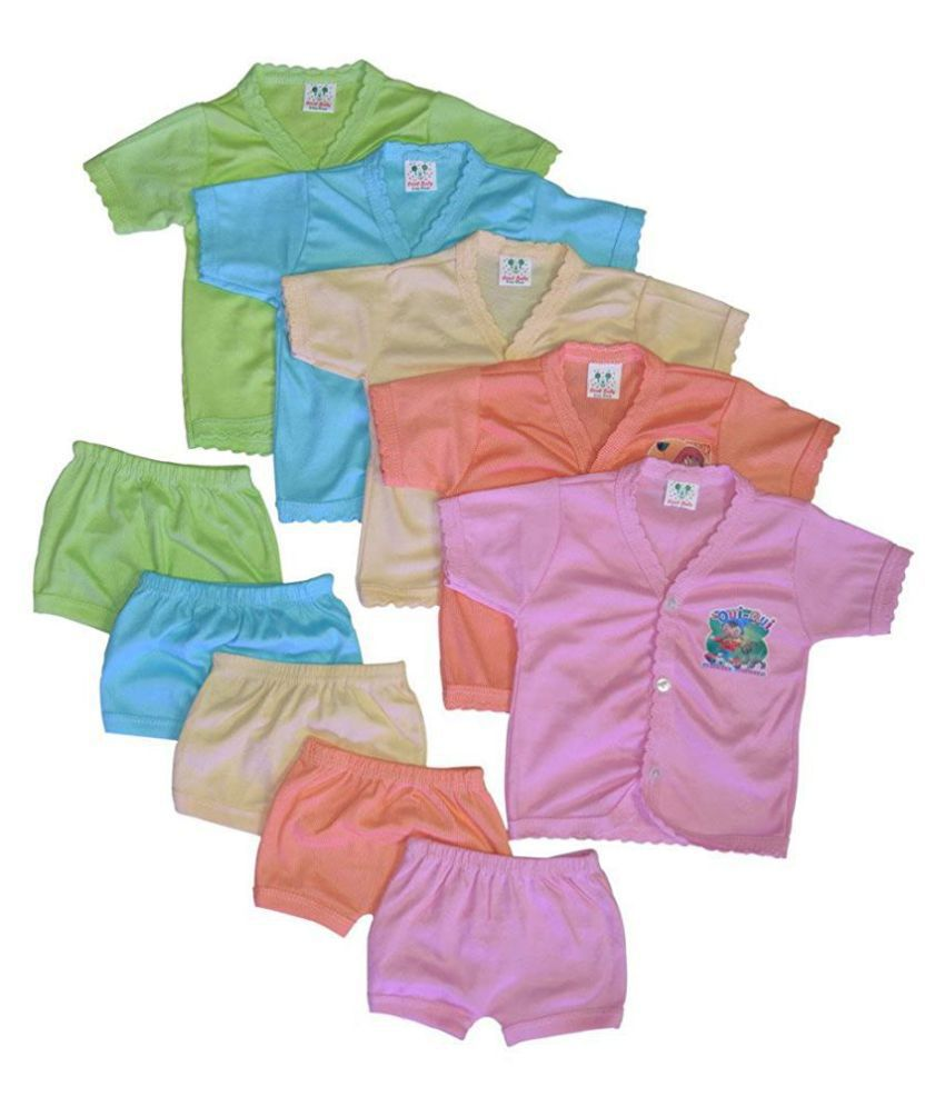 Baby Baba Suit with Shirt and Shorts for Kids Pack of 5