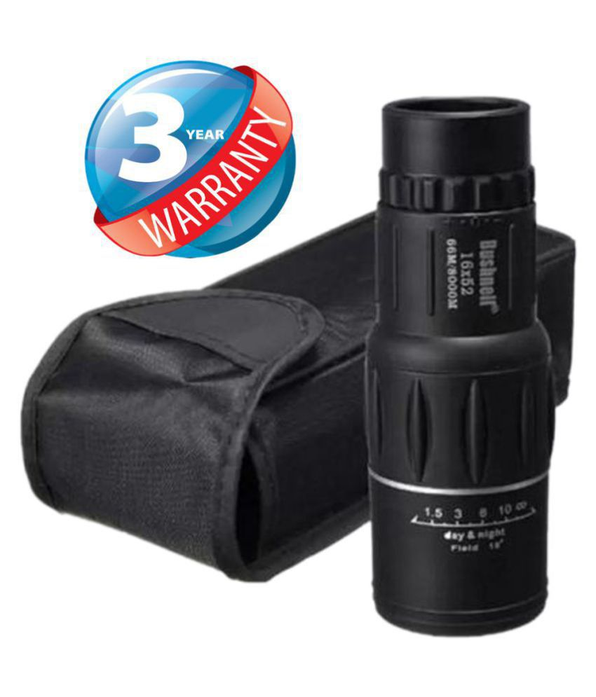 Bushnell 16X Zoom 16x52 Prism Binocular Telescope Monocular with Pouch Binocular