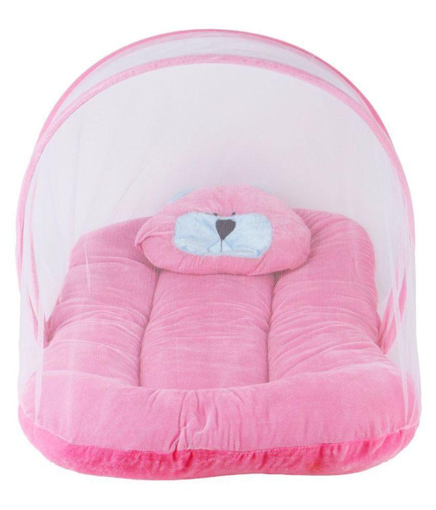 EasyHome Pink Nylon Mosquito Net ( 80 cm × 50 cm)