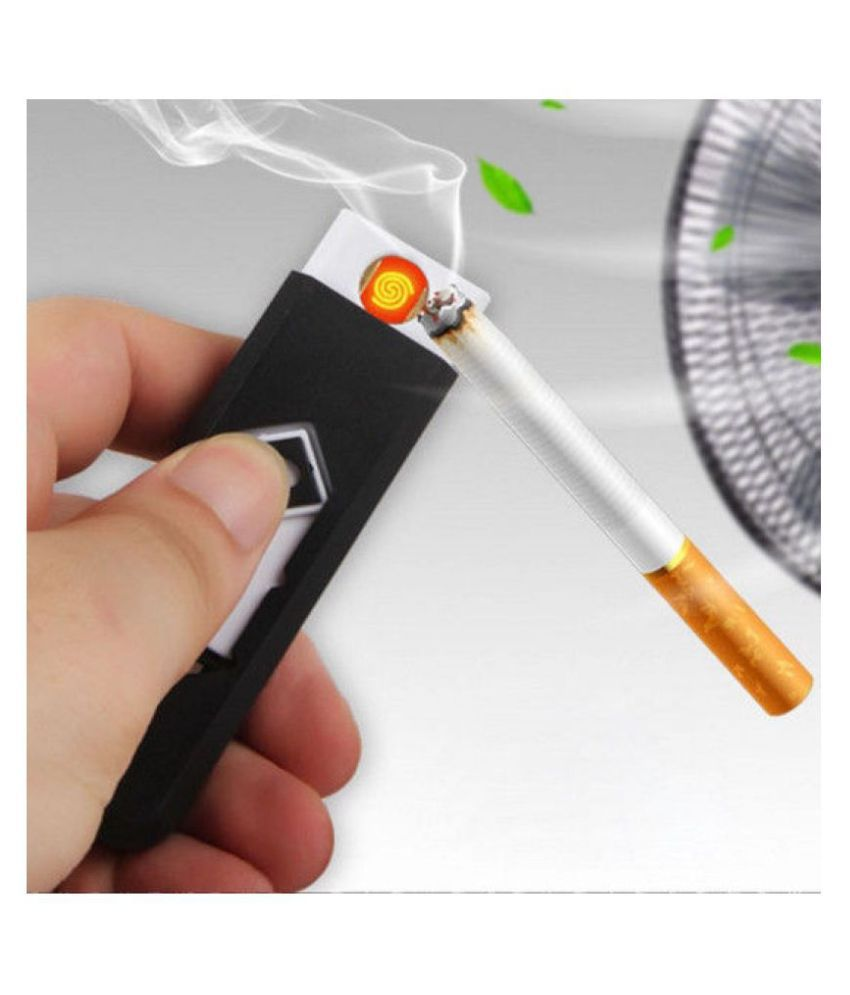 RoofTown Electronic USB Rechargeable flameless Cigarette lighter (multicolor)