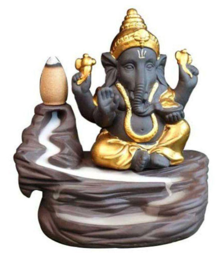 nona Gold Resin Lord Ganesha Smoke Backflow - Pack of 1