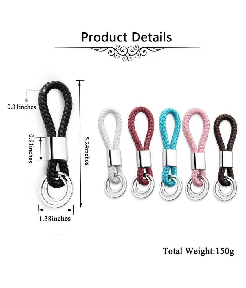 delhi deals Leather Keychain Assorted
