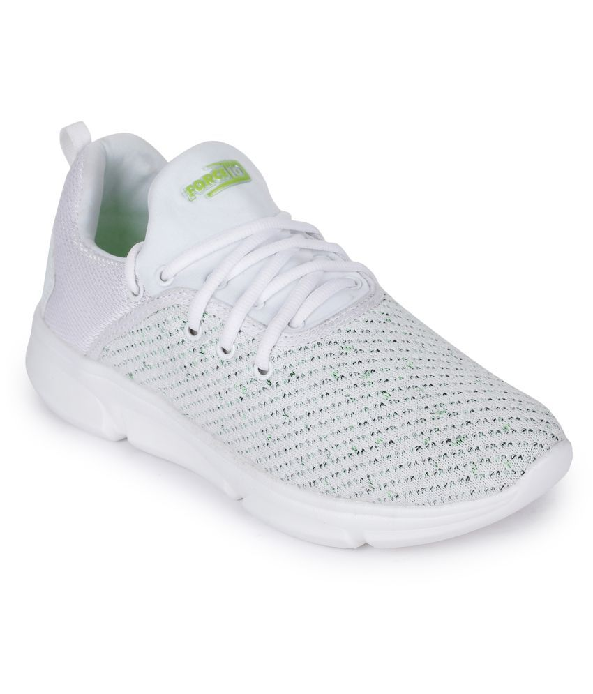 FORCE 10 By Liberty BAXY-6E White Running Shoes