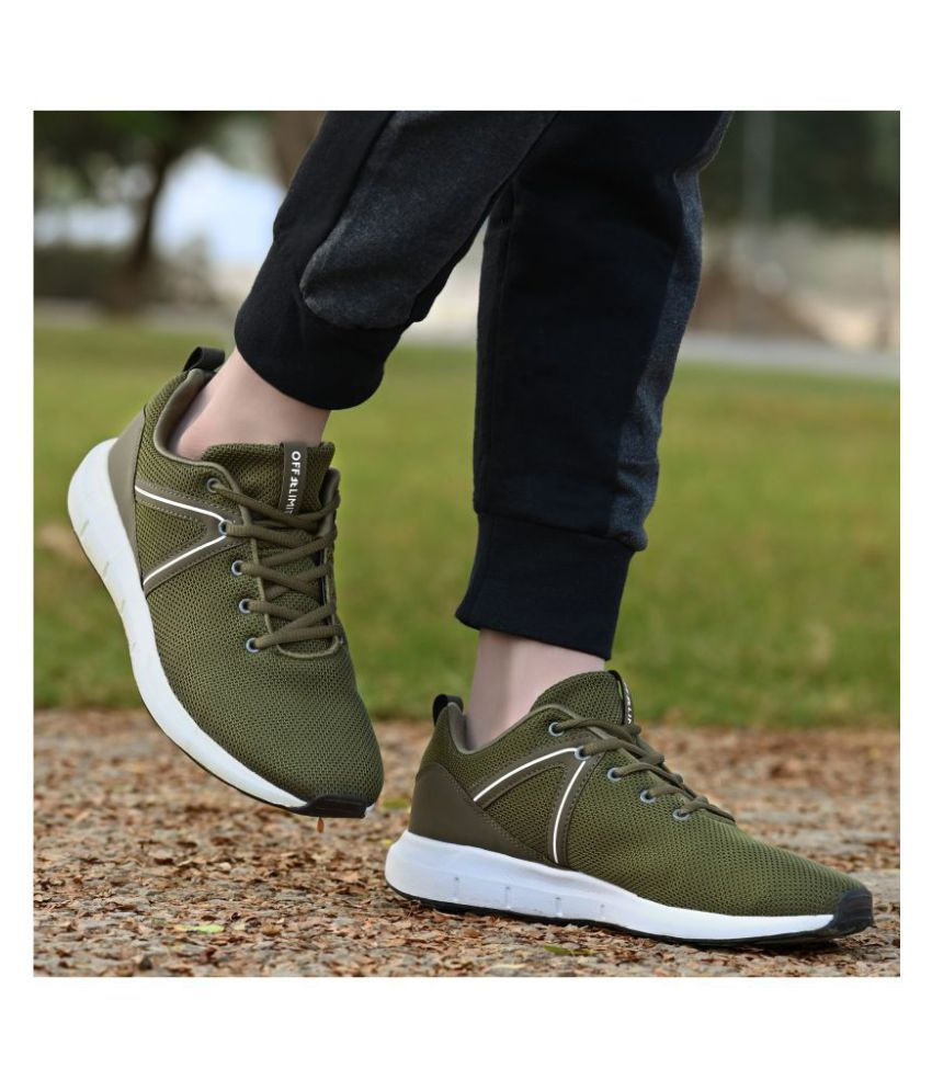 OFF LIMITS BRAVO Olive Running Shoes