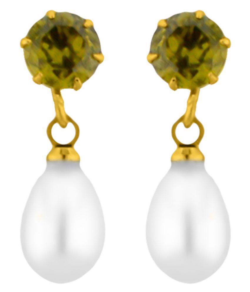 Stylish Greenstone Earrings By KNK Jewellery