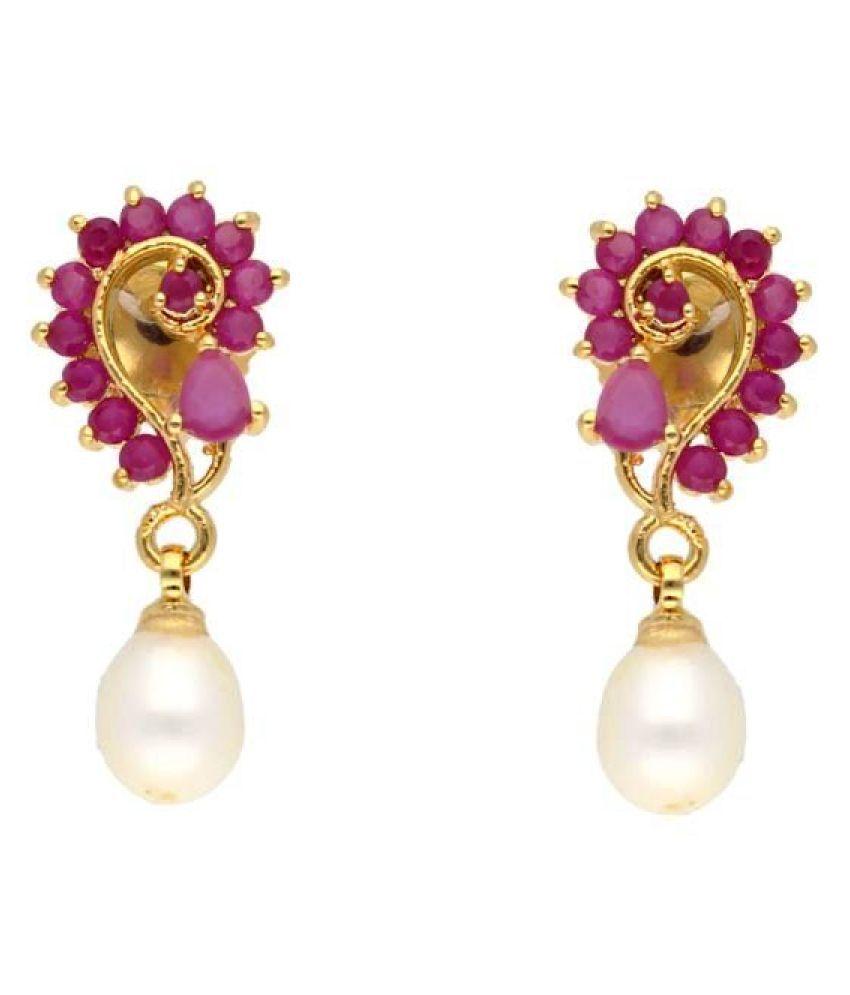 Stylish Jaanvi Pearl Earrings By KNK Jewellery