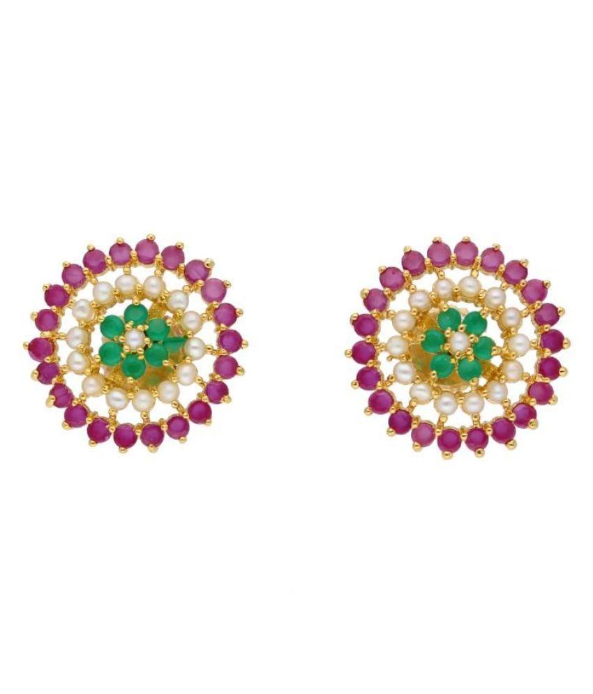 Stylish Kurika Pearl Earrings By KNK Jewellery