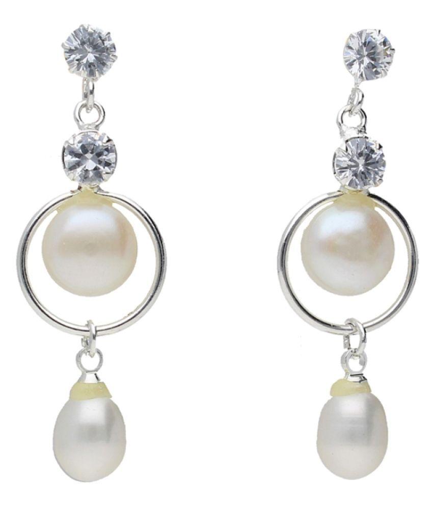 Stylish Nithya Pearl Earrings By KNK Jewellery