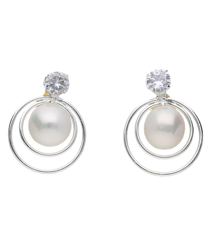 Stylish Pranavi Pearl Earrings By KNK Jewellery