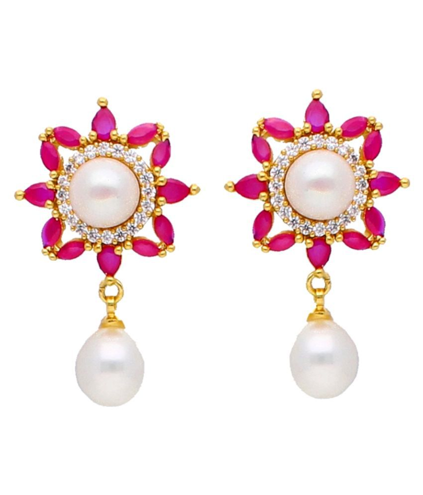 Stylish & Trendy Glory Freshwater Pearl Earrings By KNK Jewellery