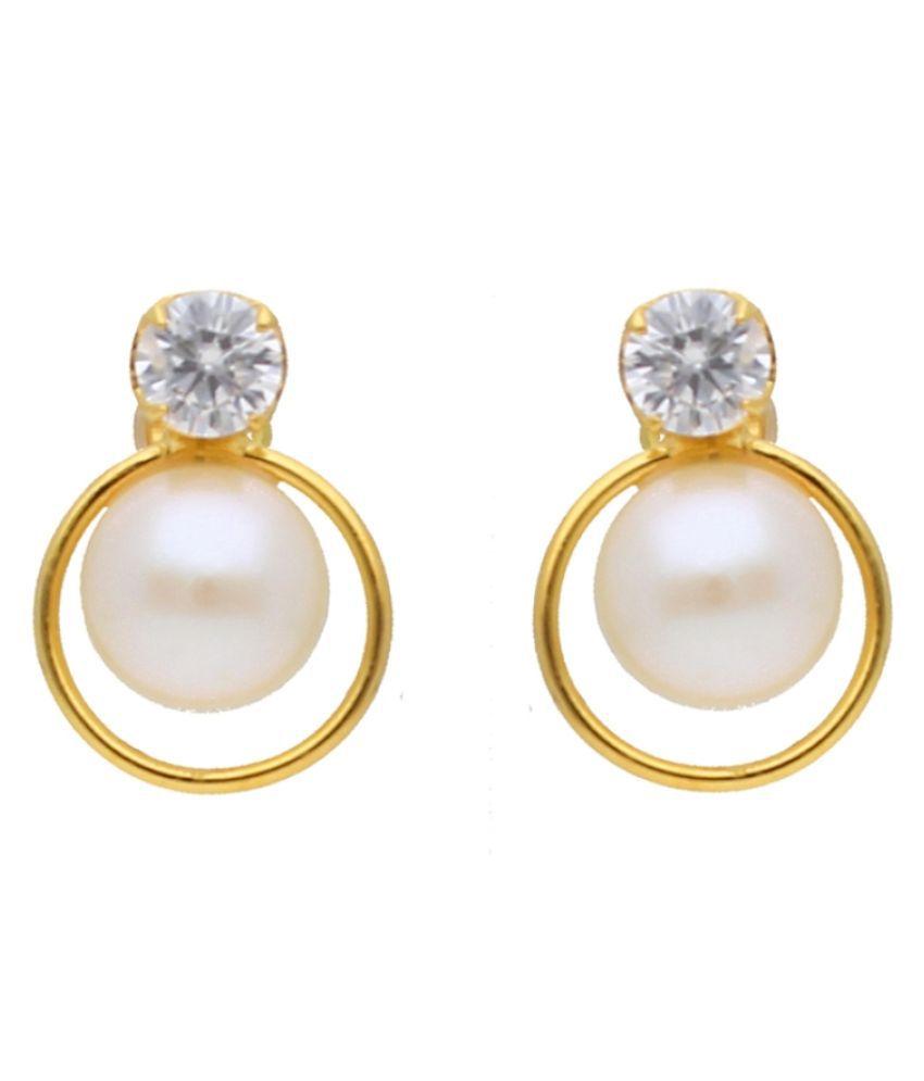 Stylish Vanezza Pearl Earrings By KNK Jewellery