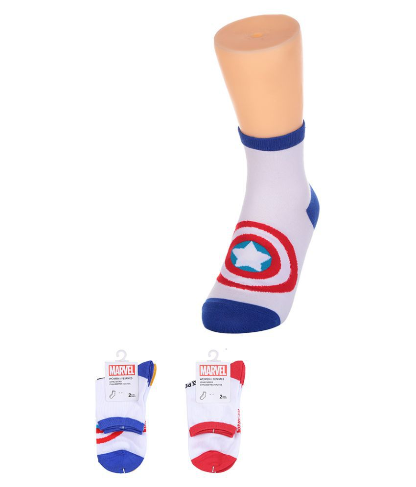 Miniso Marvel Spider Man Womens Cotton Liners Ankle Length Socks   2 Pack