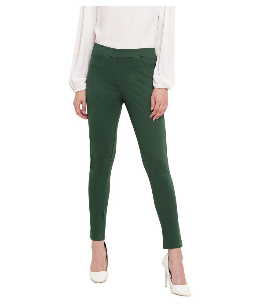 Marvel Cotton Jeggings - Green
