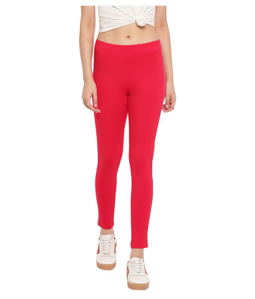Marvel Cotton Jeggings - Red