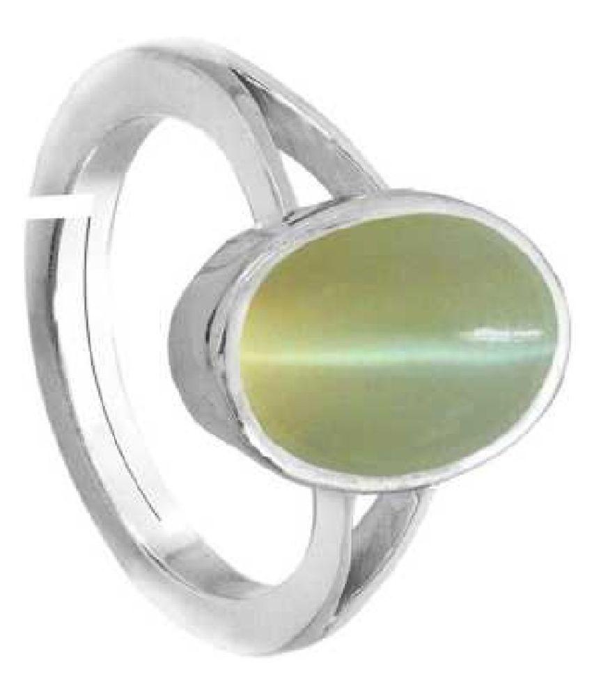 Silver 6.25 Carat Cat's Eye (Lehsuniya) Ring by Ratan Bazaar