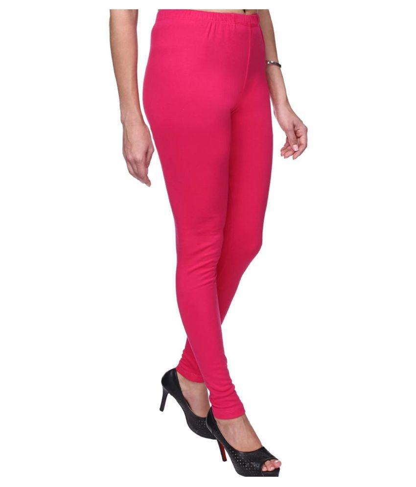 SK Creation Cotton Lycra Jeggings - Pink