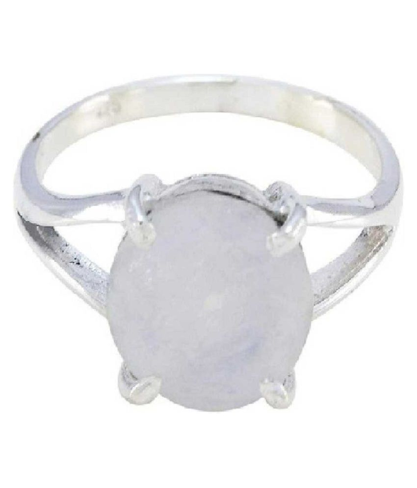 12 Carat  MOONSTONE   Ring with lab Report silver MOONSTONE  Stone by Kundli Gems