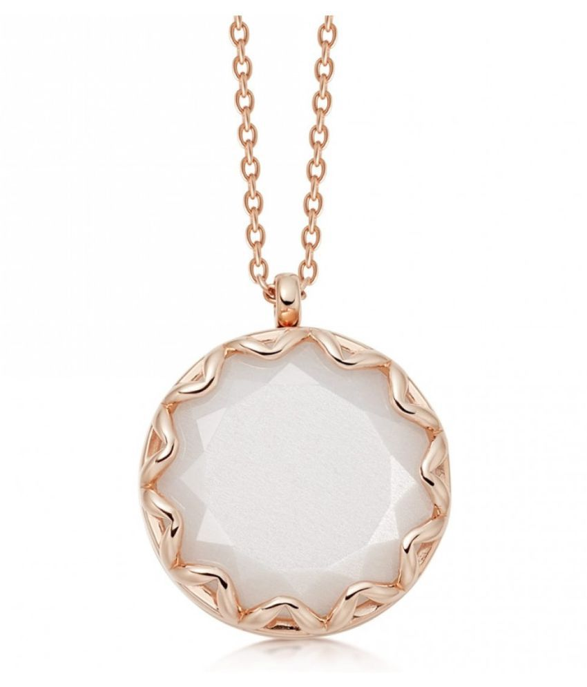 5.25 Ratti MOONSTONE Gold Plated Pendant With Certified Astrological Stone by Kundli Gems