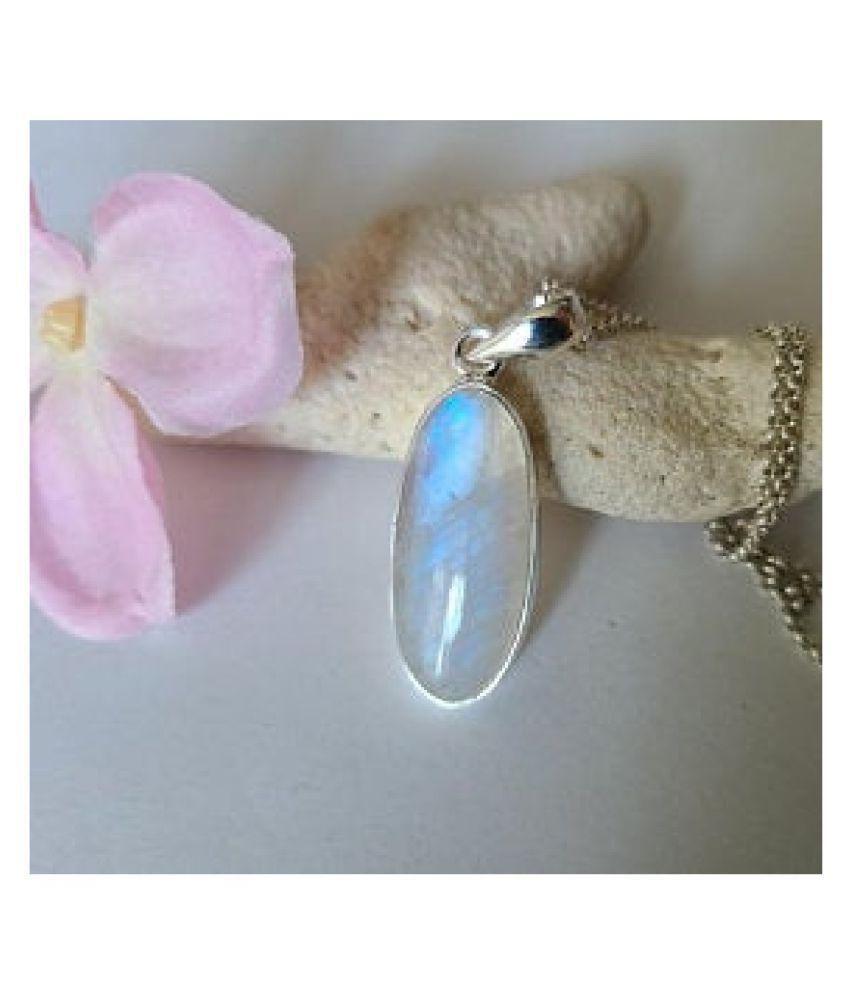 MOONSTONE  Pendant 4.5 Ratti 100% Original silver MOONSTONE  Stone by Kundli Gems