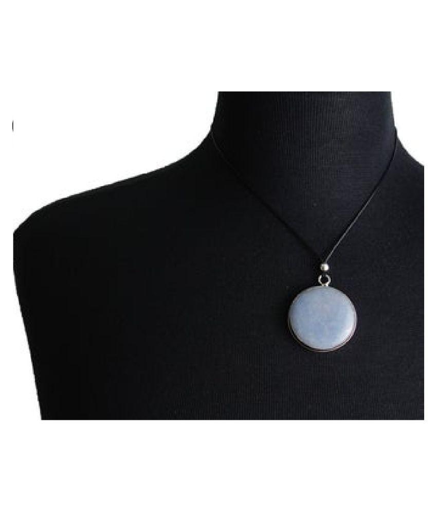 7 ratti Stone 100% Natural MOONSTONE  silver  Pendant by Kundli Gems\n