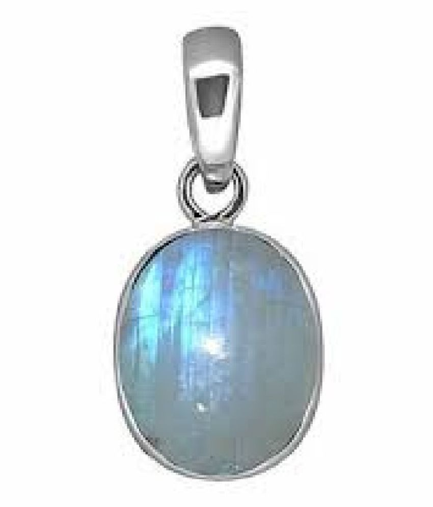 9 Ratti MOONSTONE  Pendant with Natural silver MOONSTONE  Stone by Kundli Gems