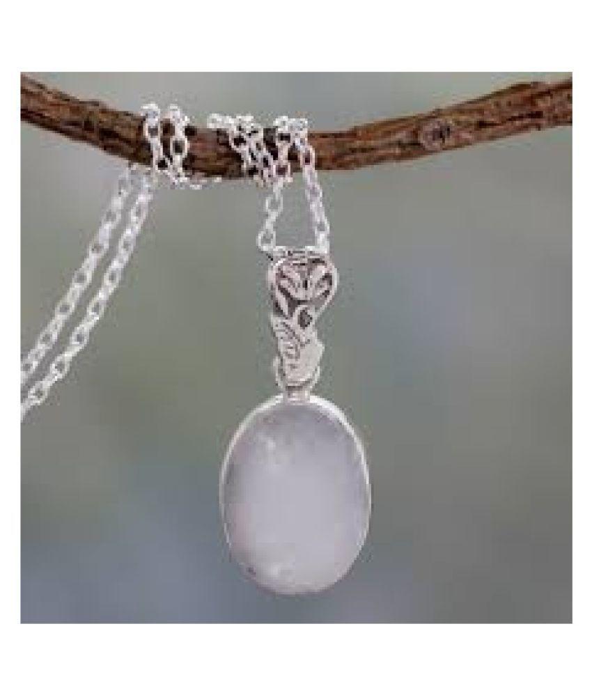 9 ratti silver  MOONSTONE  Pendant for unisex by Kundli Gems\n