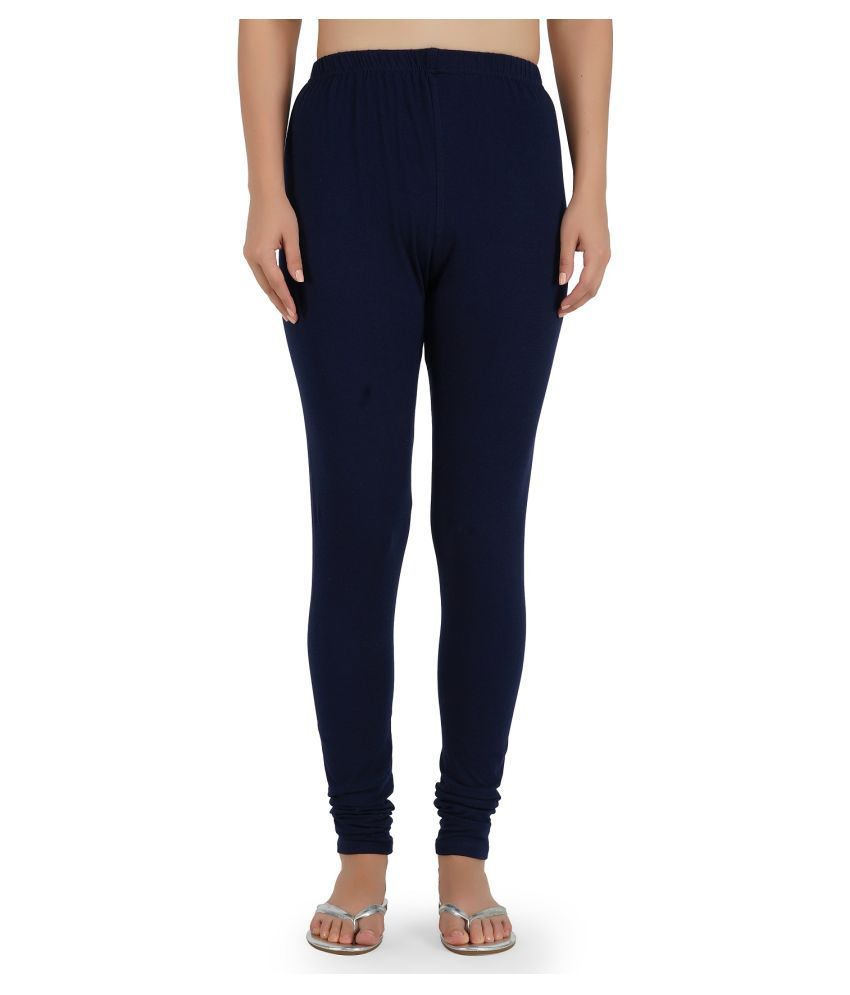 Girly Girls Cotton Jeggings - Navy