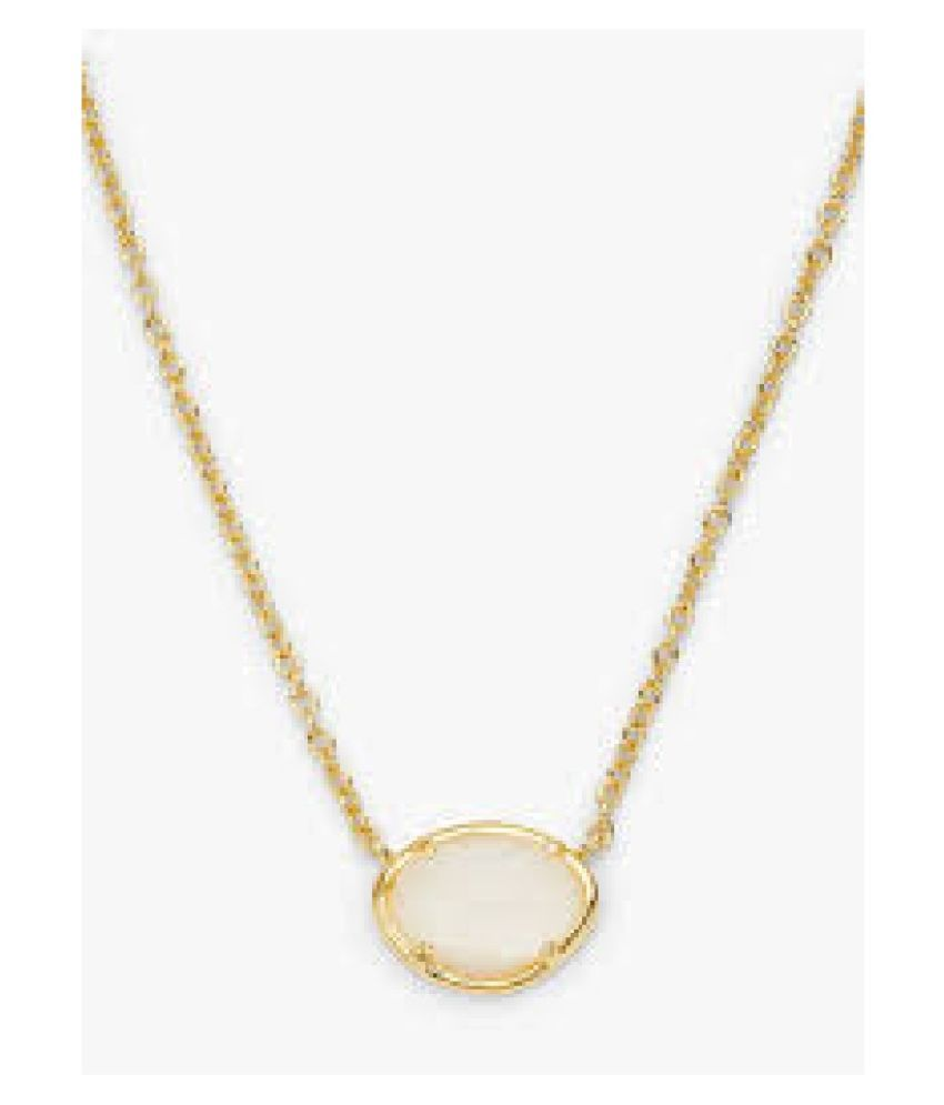 10.5 ratti Stone 10.50% Natural MOONSTONE  Gold Plated Pendant by  Kundli Gems\n