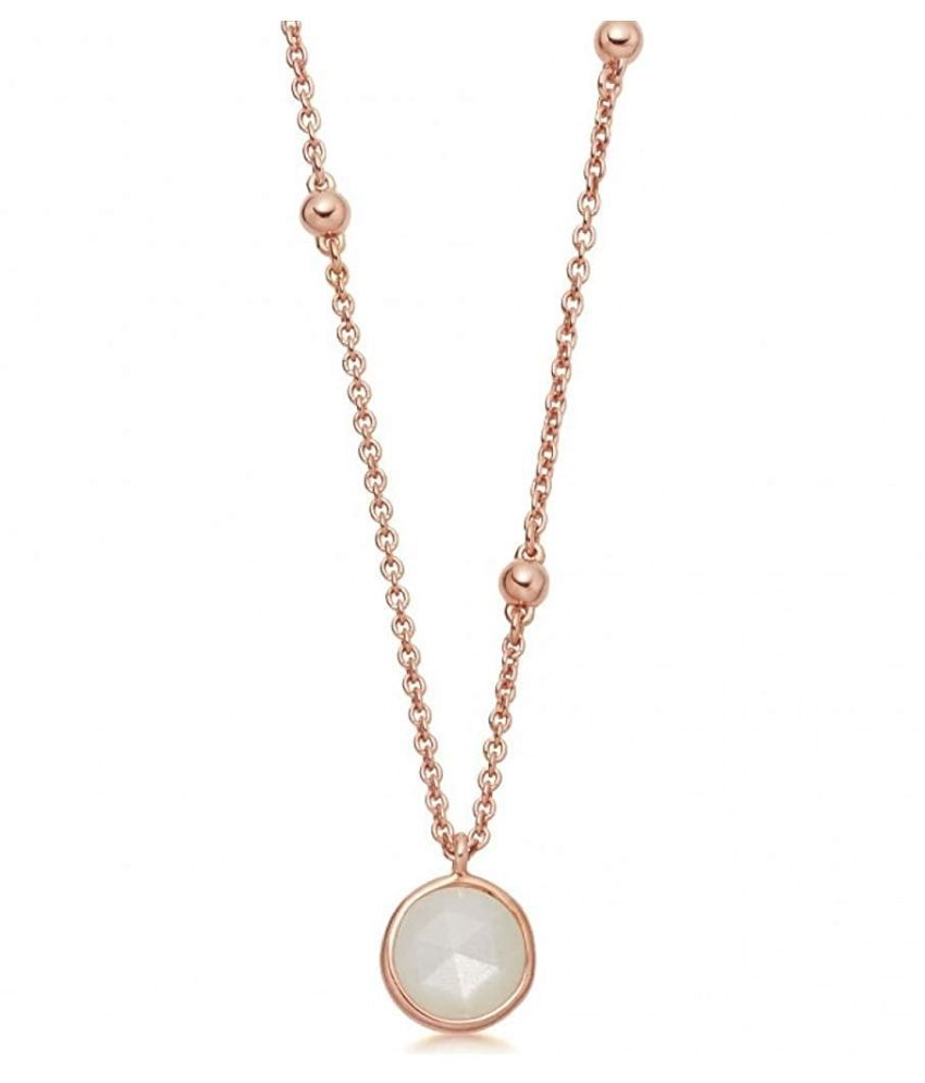 100% Real 2.5 Ratti MOONSTONE gold plated Pendant by  Ratan Bazaar