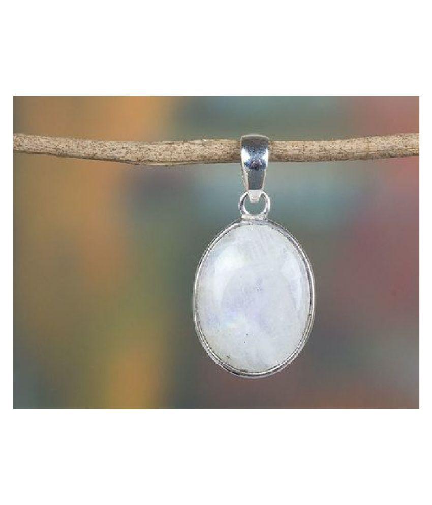 silver MOONSTONE  Stone Pendant 10.5 carat by Kundli Gems