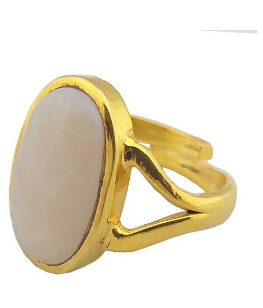 4 ratti Stone  Natural OPAL  Gold Plated Ring by  Kundli Gems\n