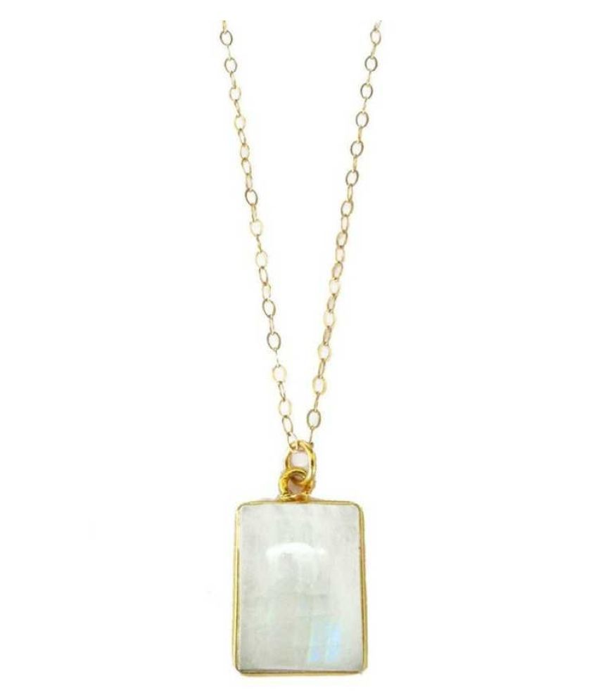 5.25 ratti Gold Plated  MOONSTONE  Pendant for unisex by   Ratan Bazaar\n