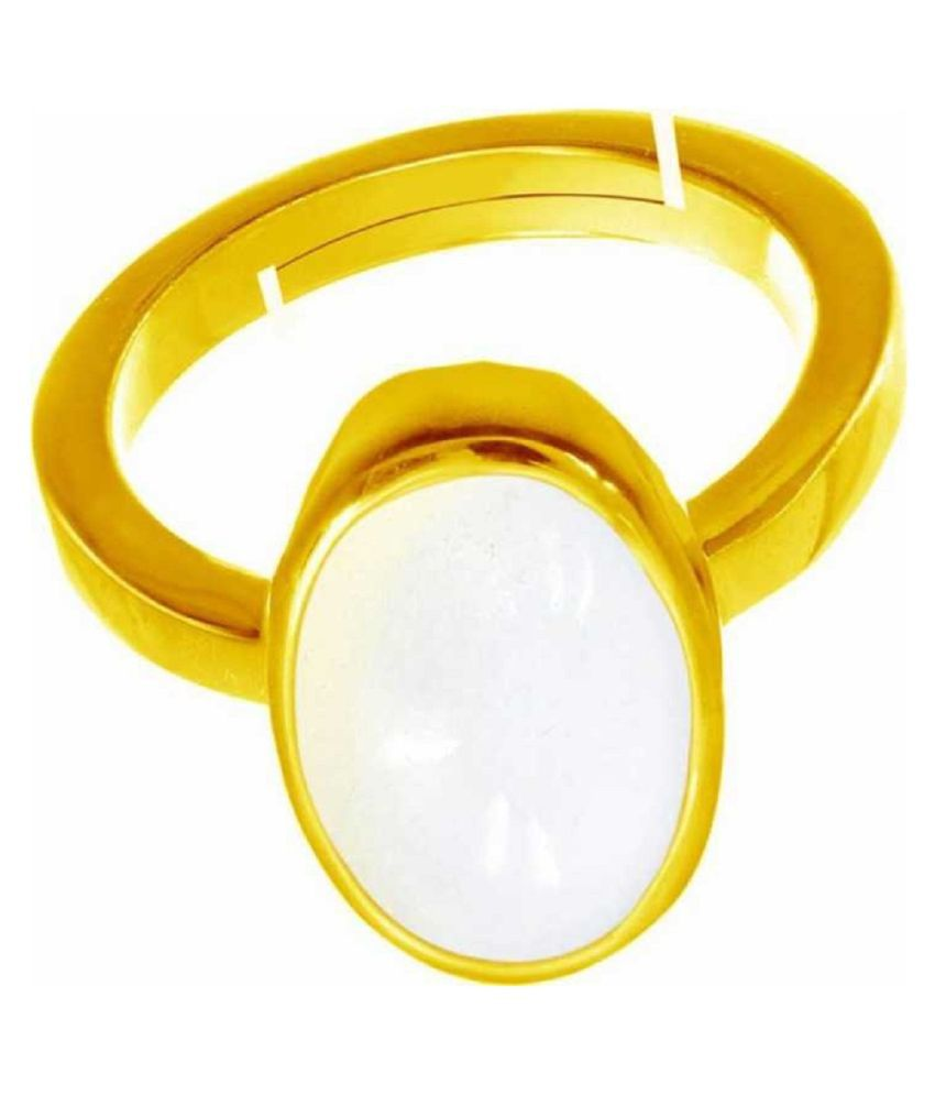 5 ratti Natural  OPAL  Stone Adjustable  Gold Plated Ring for Astrological OPAL  Ring by Kundli Gems