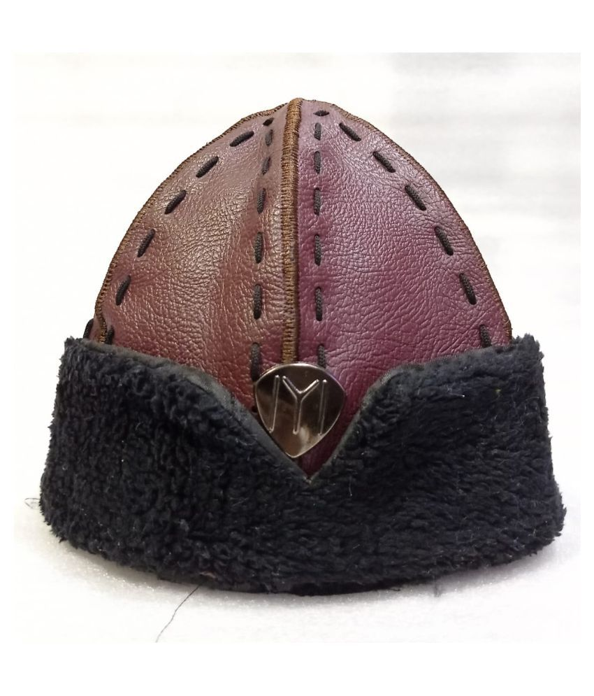 Ertugrul Ghazi Cap Maroon Graphic Fabric Caps