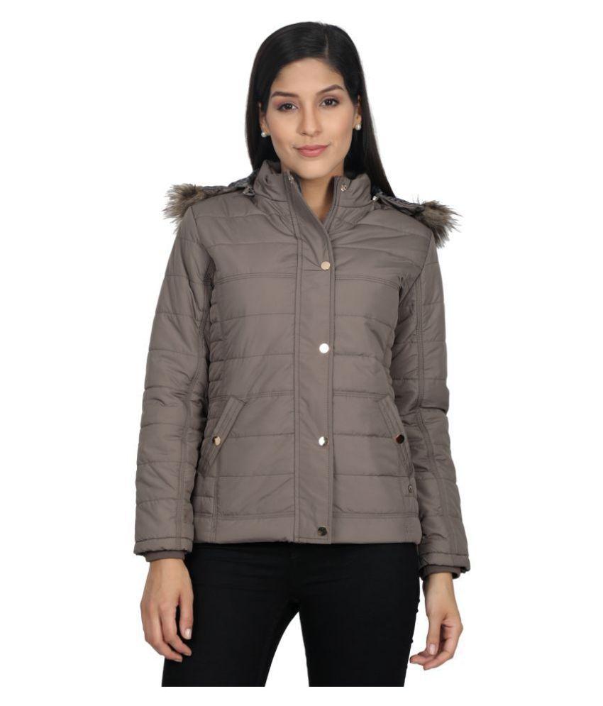 Monte Carlo Cotton Blend Brown Jackets