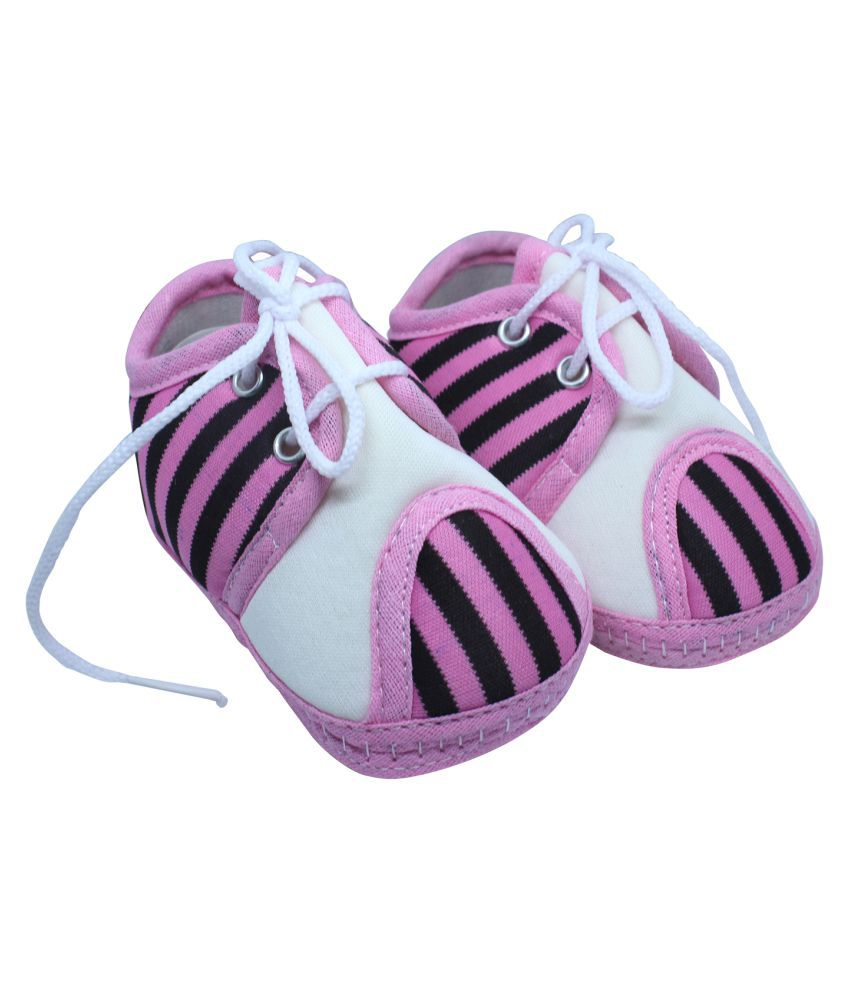 Mynekids Baby Boys & Girls fixed Lace Baby Pink and White Booties for 0 to 12 Months Infants-RK51-Pink-White